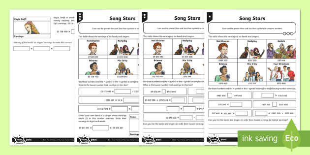 Song Stars Activity Sheet