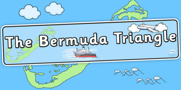 Bermuda Triangle Display Banner - geography display, header