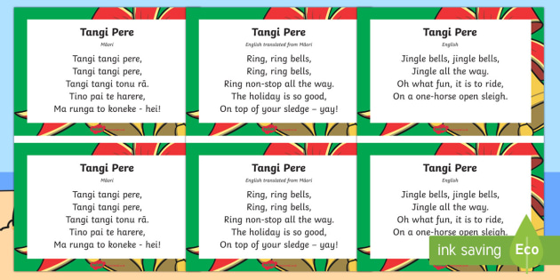 Tangi pere Jingle Bells Song