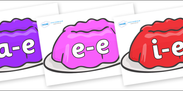 Modifying E Letters on Jelly - Modifying E, letters, modify, Phase 5, Phase five, alternative spellings for phonemes, DfES letters and Sounds