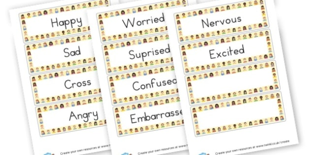 Emotion Word Cards - My Emotions Literacy Primary Resources, emotion, feeling, happy