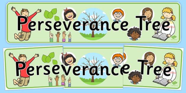 Perseverance Tree Display Banner - perseverance tree, display banner, display, banner, tree