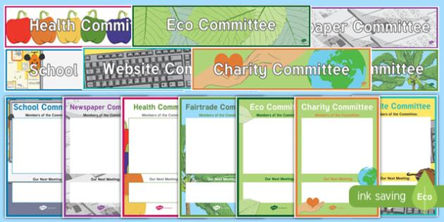 CfE School Committee Display Pack