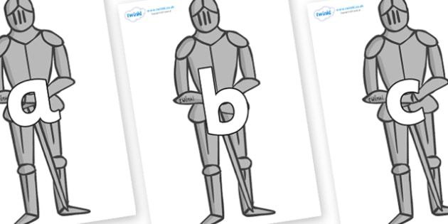 Phoneme Set on Suits of Armour - Phoneme set, phonemes, phoneme, Letters and Sounds, DfES, display, Phase 1, Phase 2, Phase 3, Phase 5, Foundation, Literacy
