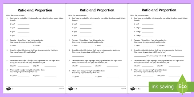 Ratio and Proportion Worksheet 2 Differentiated - ratio worksheet, proportion worksheet, ratio and proportion, ratio sums, proportion sums, ks2 maths, ks2 numeracy