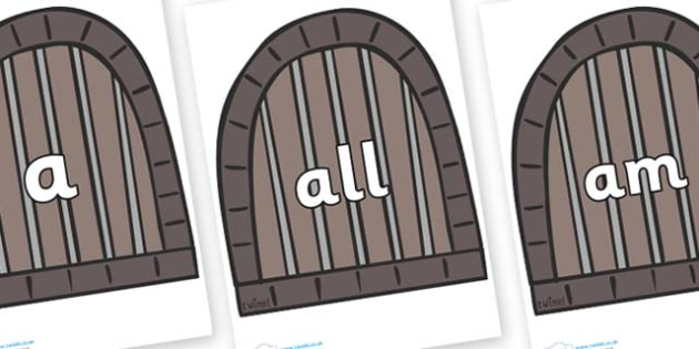 Foundation Stage 2 Keywords on Jail Cells - FS2, CLL, keywords, Communication language and literacy,  Display, Key words, high frequency words, foundation stage literacy, DfES Letters and Sounds, Letters and Sounds, spelling
