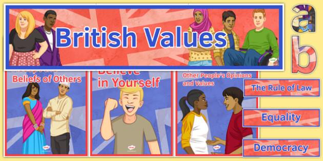 British Values Display Pack - British Values, Display, Citizenship, KS 3, PSHE, OFSTED, DofE
