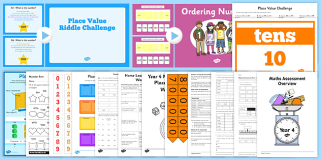 Top 10 Year 4 Place Value Resource Pack