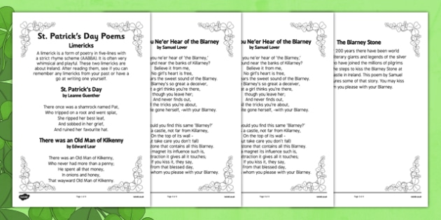 Elderly Care St Patrick's Day Poems - Elderly, Reminiscence, Care Homes, St. Patrick's Day