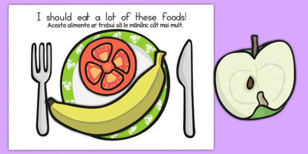 Healthy Eating Sorting Activity Romanian Translation - romanian, health, healthy food, food