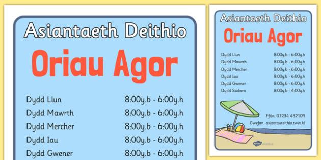 Oriau Agored Asiantaeth Deithio - roleplay, EAL