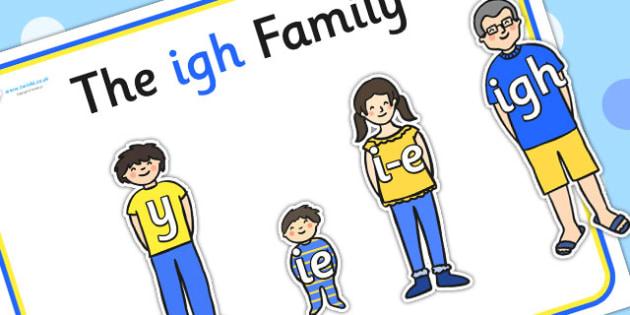 Igh Sound Family Cut Outs - sound families, sounds, cutouts, cut
