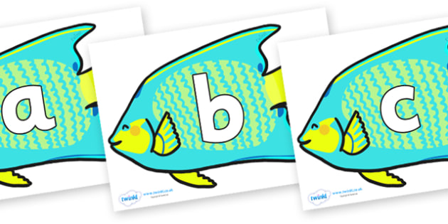 Phoneme Set on Angel Fish - Phoneme set, phonemes, phoneme, Letters and Sounds, DfES, display, Phase 1, Phase 2, Phase 3, Phase 5, Foundation, Literacy