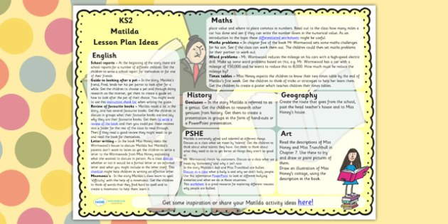 Lesson Plan Ideas KS2 to Support Teaching on Matilda - matilda, lesson plan, KS2, ideas
