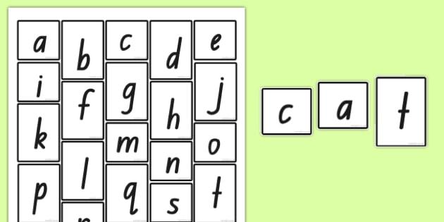 Phoneme Frames Letter Tiles - australia, phoneme, frames, letter tiles, letter, letters, alphabet