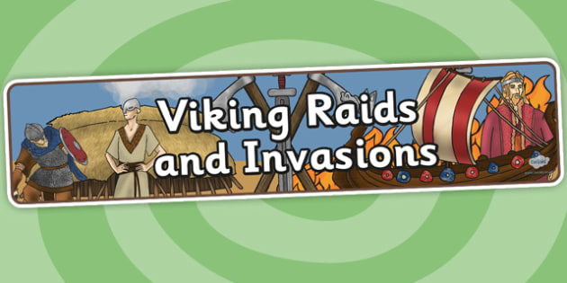 Vikings Raids and Invasions Display Banner - vikings, invasion