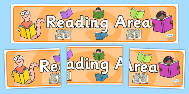 Reading Area Sign - Classroom Area Signs, KS1, Book Area, Book Corner, Library, Banner, Foundation Stage Area Signs, Classroom labels, Area labels, Area Signs, Classroom Areas, Poster, Display, Areas