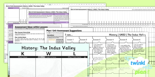 PlanIt - History UKS2 - The Indus Valley Civilisation Unit Assessment Pack - assessment, record, data, baseline, nation, pack, objectives, criteria, success, national, curriculum,