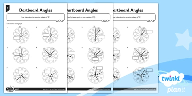 PlanIt Y5 Properties of Shapes Dartboard Angles Home Learning - Properties of Shapes, angles, acute, obtuse, reflex, measure angles, draw angles, degrees, protractor, angle measurer, multiple of 90 degrees, missing angle, calculate angles
