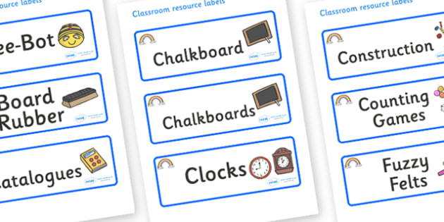 Rainbow Themed Editable Additional Classroom Resource Labels - Themed Label template, Resource Label, Name Labels, Editable Labels, Drawer Labels, KS1 Labels, Foundation Labels, Foundation Stage Labels, Teaching Labels, Resource Labels, Tray Labels,