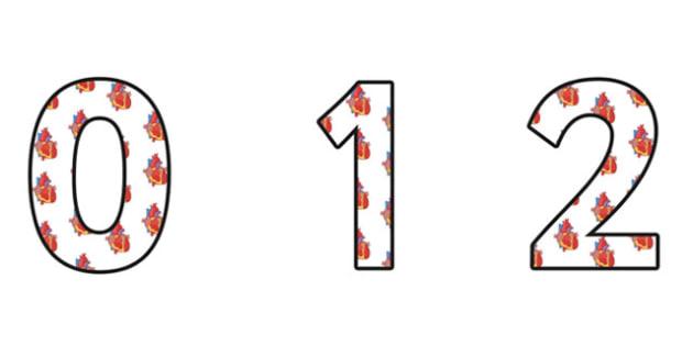 Circulation Small Display Numbers - circulation, circulation display, circulation themed numbers, circulation numbers, circulation cut out numbers, a-z