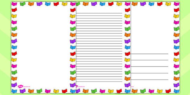 Library Page Borders - library, page borders, page, borders