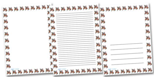 Knight On Horse Portrait Page Borders- Portrait Page Borders - Page border, border, writing template, writing aid, writing frame, a4 border, template, templates, landscape