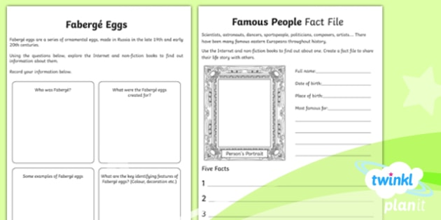 PlanIt - Geography Year 5 - Exploring Eastern Europe Home Learning Tasks