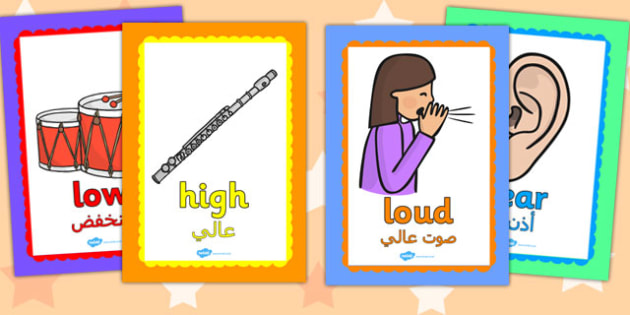Sound and Hearing Display Posters Arabic Translation - arabic