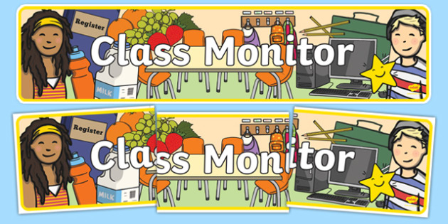 Class Monitor Display Banner