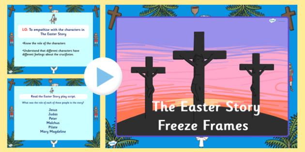 The Easter Story Freeze Frames Task Setter - easter, easter story