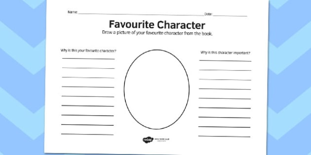 Favourite Character Reading Comprehension Activity - comprehension
