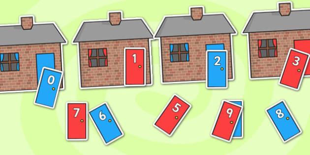 0-20 Sorting Activity Houses, sorting activity, sorting, activitites, themed sorting activities, sorting houses, houses, themed activites, themed game
