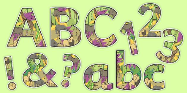 Dancing Giraffe Themed Display Lettering Pack - Giraffes, Dance, animals, Africa, safari, letters, lettering, display, classroom, class, Giraffes Can