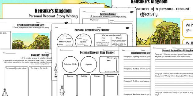 Kensuke's Kingdom Inspired Desert Island Story Writing Lesson Pack