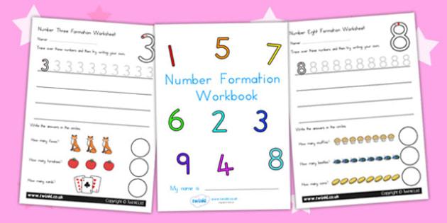 Number Formation Workbook 0 9 - number formation, motor skills