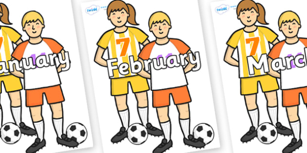 Months of the Year on Players - Months of the Year, Months poster, Months display, display, poster, frieze, Months, month, January, February, March, April, May, June, July, August, September