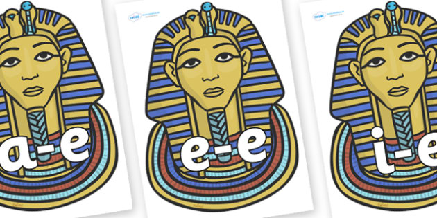 Modifying E Letters on Mummy Masks - Modifying E, letters, modify, Phase 5, Phase five, alternative spellings for phonemes, DfES letters and Sounds