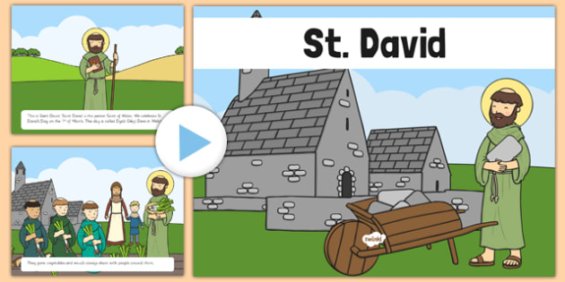 St David Story PowerPoint - wales, St David's Day celebration,