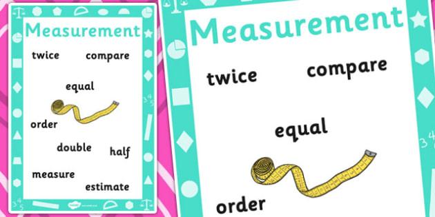 Key Stage 1 Measurement Poster - Year 1, Measurement, Display, Poster