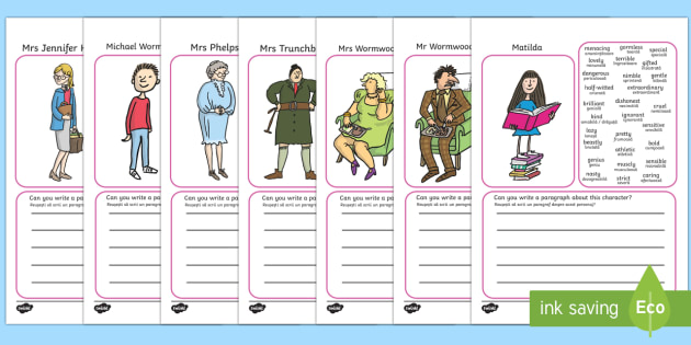 Description Writing Frames to Support Teaching on Matilda English/Romanian