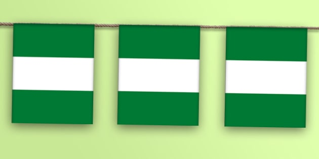 Nigeria Flag Display Bunting - countries, geography, display