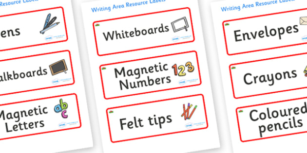 Wales Themed Editable Writing Area Resource Labels - Themed writing resource labels, literacy area labels, writing area resources, Label template, Resource Label, Name Labels, Editable Labels, Drawer Labels, KS1 Labels, Foundation Labels, Foundation