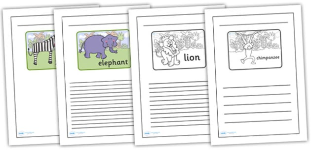 Black and White Lined Writing Frames to Support Teaching on Rumble in the Jungle - rumble in the jungle colour and write, jungle, rumble in the jungle writing frames, templates