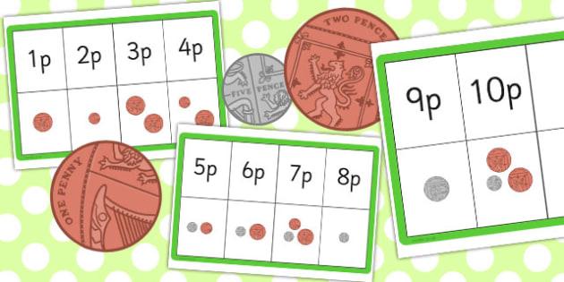 Money Matching Threading Cards - thread, match, money, activity