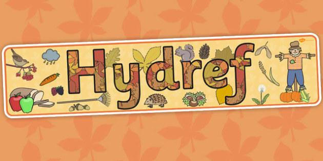 Autumn Display Banner Welsh Translation - hydref, header, seasons