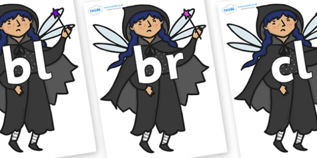 Initial Letter Blends on Evil Fairy - Initial Letters, initial letter, letter blend, letter blends, consonant, consonants, digraph, trigraph, literacy, alphabet, letters, foundation stage literacy