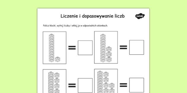 Liczenie I dopasowywanie liczb do ilości po polsku - matematyka