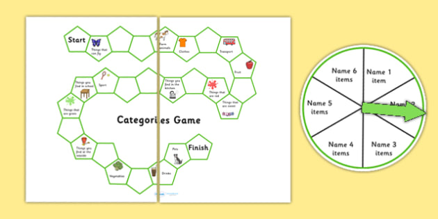 SALT Semantics Categories Board Game - semantic, sort, games, SEN