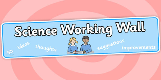 Science Working Wall Banner - science, working wall, banner
